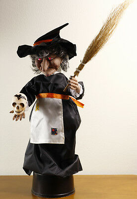 Vintage Halloween Animated & Illuminated Witch 37cm Made in Taiwan New Old Stock