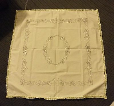 Un-worked vintage Hobbytex morning glory coffee cloth 2989 yellow square 92x92cm