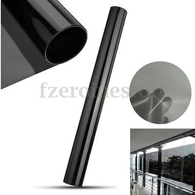 Black Privacy Film Foil Glass Window Door Tint Tinting Home Office Decor 0.5mx3m