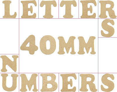 Small 40mm Wooden MDF Letters & Numbers - Packs of 10