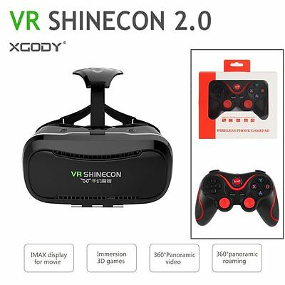 3D VR Glasses Virtual Reality Headset VR Shinecon 2.0 with Bluetooth Game Remote
