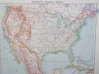 Map of the United States of America. 1909. Stieler. Perthes. USA.