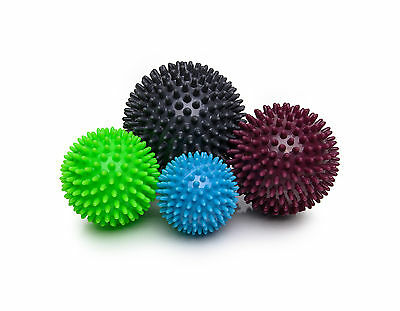 Igelball Igel-Ball Massageball 4er-Set (hellblau, apple, brombeer, graphit)