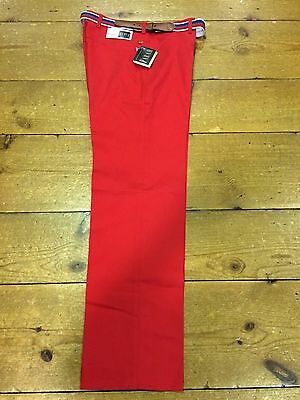 Vintage Farah Red Ultra Stretch Trousers from 1987/Red - 34/31 Made In Ireland