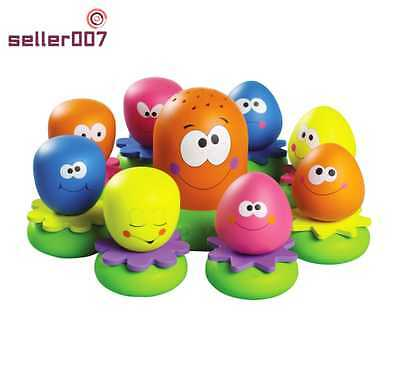 Tomy Aquafun Octopus Eggs For Babies Bath Time Colourful Floating Toys Island