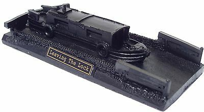 Leaving the Lock Canal Boat - Hand Crafted - Coal Model