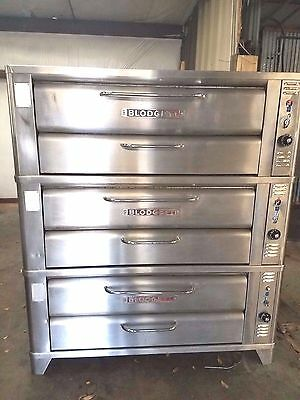 Triple Stack All Stainless Blodgett 961P Deck Gas Pizza Oven Stones