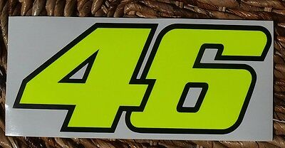1 VALENTINO ROSSI AUFKLEBER STICKER 46 SIZE 30x13 VR46 YELLOW FLUORESCENT DECAL