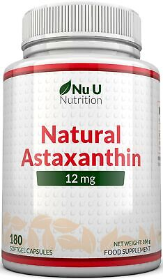 Astaxanthin 12mg - 180 Softgels (6 Month Supply) - Highest Strength Astaxanthin