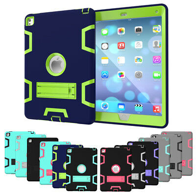 Hybrid Shockproof Protective Case Cover Stand for Apple iPad 2 3 4 Mini Air Lot