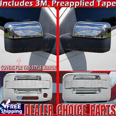 2004-2008 FORD F150 GLOSS BLACK 2 Door Handle Covers No KP W//P+Mirrors+TailgateC