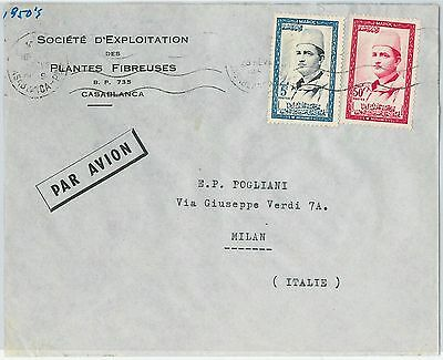 59254 -    MOROCCO - POSTAL HISTORY: COVER to ITALY - 1950'S