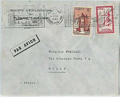 59260 -    MOROCCO - POSTAL HISTORY: COVER to ITALY - 1960  ARCHITECTURE