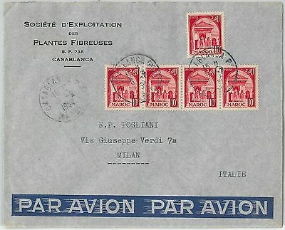 59265 -    MOROCCO - POSTAL HISTORY: COVER to ITALY - 1954