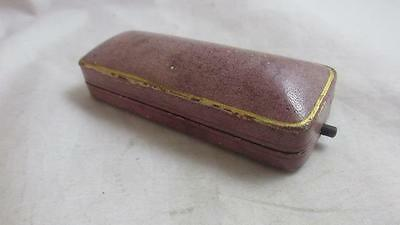 Antique Victorian 1890 leather stick pin box  kay & co worcester kj5048