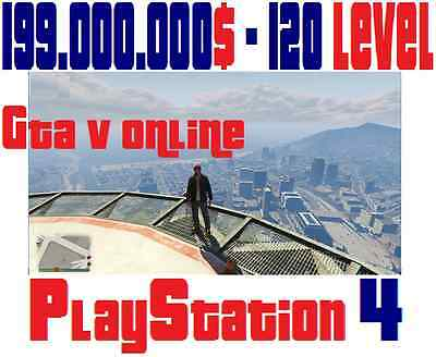 Time and work devoted to Acquiring 199.000.000$ GTA V Online PlayStation 4 cash