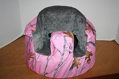 NEW Bumbo Floor Seat COVER-Pink Camo True Timber Snowfall-Safety Strap Ready