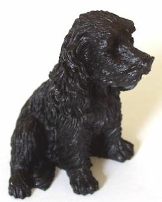 Spaniel Dog Model Made with coal