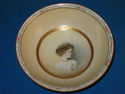 SILESIA 6 1/4-inch Hand Painted Artist-Signed Portrait Bowl
