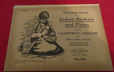 "1967 Reprint Of The ""illustrated History Of Indian Baskets And Plates """