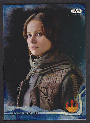 Topps Star Wars - Rogue One Series 1 - # 1 Jyn Erso - Blue Squad Parallel