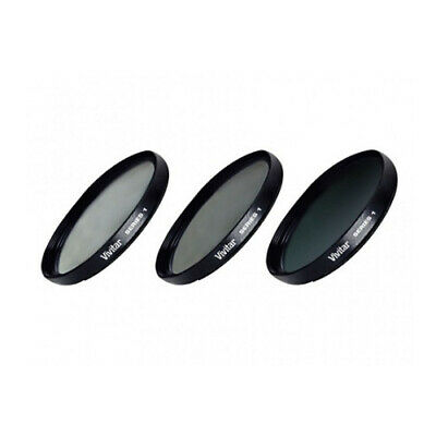 Vivitar 82mm UV CPL ND8 Neutral Density 3 Piece Multi-Coated Filter Kit Series 1