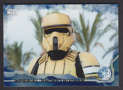 Topps Star Wars - Rogue One Series 1 - # 41 Blue Squad Parallel