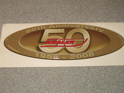 Boston Whaler 50Th Anniversary Oval Decal - Tax Free!!