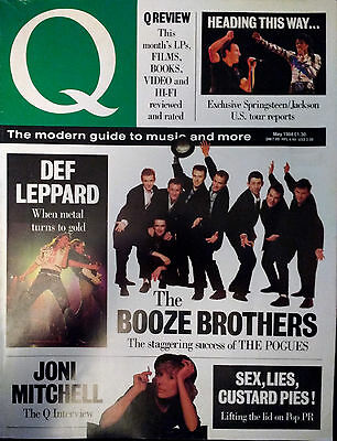 Q Magazine May 1988 Def Leppard Michael Jackson Chuck Berry Springsteen Mitchell