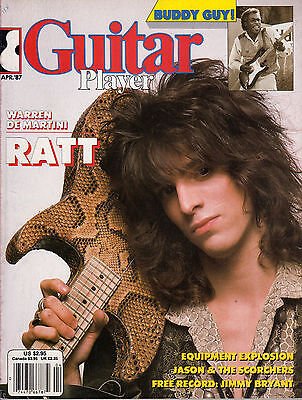 Guitar Player Magazine April 1987 Ratt Warren De Martini Buddy Guy Robin Crosby