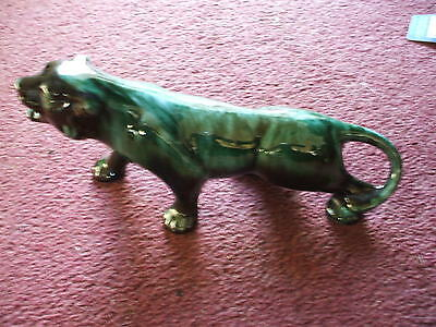 """Very Rare Canadian  Blue Mountain Art Pottery Panther  28 Cm 10 """" Vgc"""