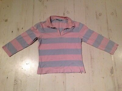 Childs Musto Age 10 Equestrian Clothing Pink Grey Polo Top Girls Horse Riding