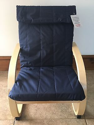 Kids Chair, Children's Brand New Lounge Chair, Bentwood in the Colour BLUE