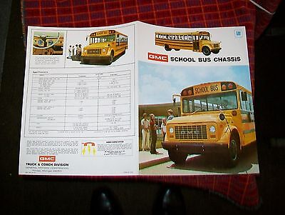 Gmc School Bus Chassis Sales Brochure.august 1973
