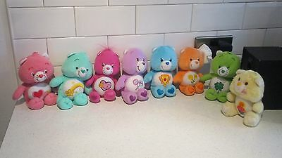 "Lot 9"" Soft Toy Care Bears X 8 Assorted"