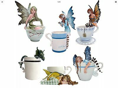nemesis now figurine Cup Fairies Set Of Six All Boxed Amy brown