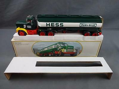 Vintage 1984 Hess Toy Truck Bank BLACK SWITCH Variant EX+ w/ Box & Inserts