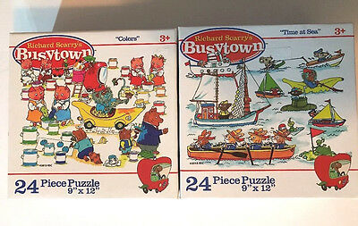 Richard Scarry Busytown Puzzles Toddler 3+ Lowly Worm