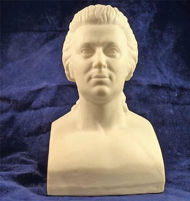 Antique Victorian Parian Bisque Bust of W.A Mozart 4 1/2 inches High c 1860 - 80