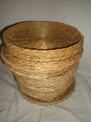LOT/SET OF 23 WICKER/RATTAN/BAMBOO PAPER PLATE HOLDERS camping PICNIC outdoor