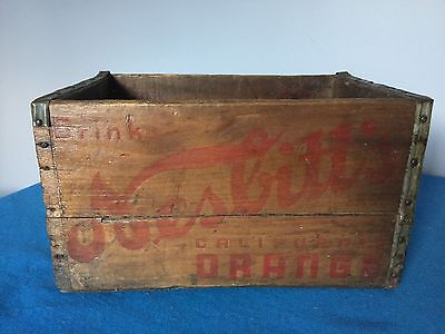 Vintage Antique Advertising Nesbitt's California Orange Soda Crate Wooden Box