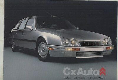 1989 Citroen CX25 Turbo GTi Sedan & Estate Wagon US Prestige Brochure ww4755