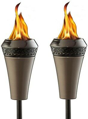(2-Pack) Tiki Light King Torch Bundle Outdoor Garden Party Yard Mosquito Repell