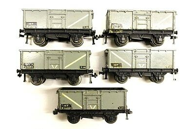 5 x Hornby Dublo metal Open Wagons OO Gauge Rolling Stock Collectables G7