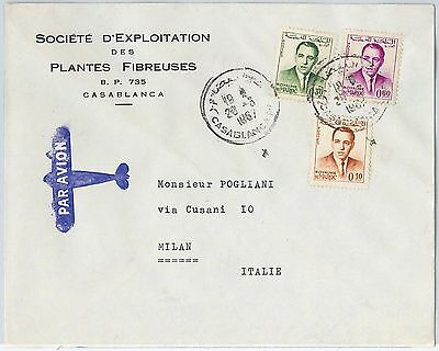 59270 -    MOROCCO - POSTAL HISTORY: COVER to ITALY - 1967