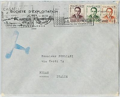 59273 -    MOROCCO - POSTAL HISTORY: COVER to ITALY - 1963