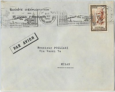59277 -    MOROCCO - POSTAL HISTORY: COVER to ITALY - 1960