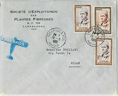 59279 -    MOROCCO - POSTAL HISTORY: COVER to ITALY - 1961