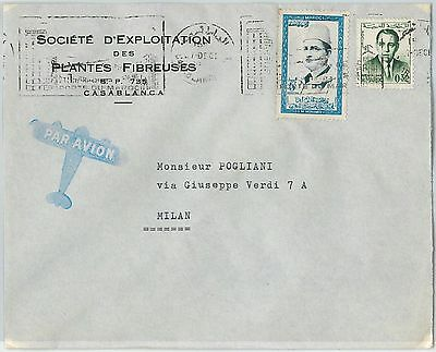 59285 -    MOROCCO - POSTAL HISTORY: COVER to ITALY