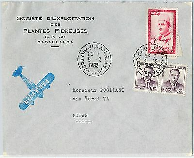 59286 -    MOROCCO - POSTAL HISTORY: COVER to ITALY - 1962